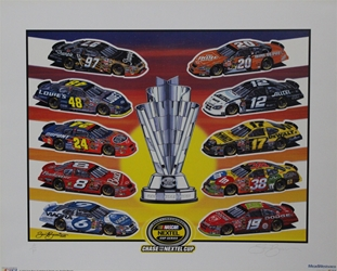 "04 Inaugural Nextel Cup ""Chase For The Nextel Cup"" Artist Proof Sam Bass Print 18.5"" X 23"" 04 Inaugural Nextel Cup ""Chase For The Nextel Cup"" Artist Proof Sam Bass Print 18.5"" X 23"""