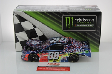 Alex Bowman Autographed 2019 Axalta Chicagoland First Cup Series Win 1:24 Color Chrome NASCAR Diecast Alex Bowman, Camping World 400,CHICAGOLAND ,CHICAGOLAND ,43646,2018 Nascar Diecast,1:24 Scale Diecast,pre order diecast