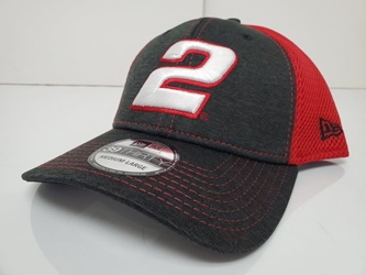 Brad Keselowski #2 Grey/Red New Era Fitted Hat - Different Sizes Available Brad Keselowski, NASCAR, apparel, hat