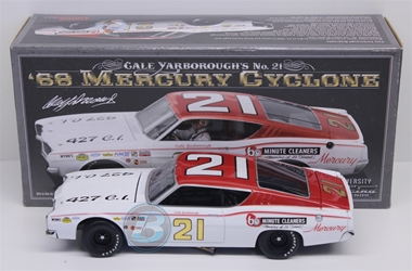 Cale Yarborough Autographed #21 60 Minute Cleaners 1968 Mercury Cyclone 1:24 University of Racing Nascar Diecast Cale Yarborough nascar diecast, diecast collectibles, nascar collectibles, nascar apparel, diecast cars, die-cast, racing collectibles, nascar die cast, lionel nascar, lionel diecast, action diecast, university of racing diecast, nhra diecast, nhra die cast, racing collectibles, historical diecast, nascar hat, nascar jacket, nascar shirt,historical racing die cast