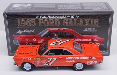 Cale Yarborough Autographed #27 Abingdon Motor Co. 1965 Ford Galaxie 1:24 University of Racing Nascar Diecast Cale Yarborough nascar diecast, diecast collectibles, nascar collectibles, nascar apparel, diecast cars, die-cast, racing collectibles, nascar die cast, lionel nascar, lionel diecast, action diecast, university of racing diecast, nhra diecast, nhra die cast, racing collectibles, historical diecast, nascar hat, nascar jacket, nascar shirt,historical racing die cast