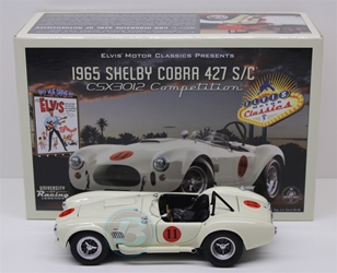 Elvis Edition Competition White 1965 Shelby Cobra 1:24 University of Racing Diecast Shelby Cobra nascar diecast, diecast collectibles, nascar collectibles, nascar apparel, diecast cars, die-cast, racing collectibles, nascar die cast, lionel nascar, lionel diecast, action diecast, university of racing diecast, nhra diecast, nhra die cast, racing collectibles, historical diecast, nascar hat, nascar jacket, nascar shirt,historical racing die cast
