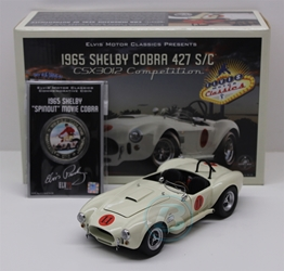 Elvis Edition Competition White 1965 Shelby Cobra 1:24 with Commemorative Coin University of Racing Diecast Shelby Cobra nascar diecast, diecast collectibles, nascar collectibles, nascar apparel, diecast cars, die-cast, racing collectibles, nascar die cast, lionel nascar, lionel diecast, action diecast, university of racing diecast, nhra diecast, nhra die cast, racing collectibles, historical diecast, nascar hat, nascar jacket, nascar shirt,historical racing die cast