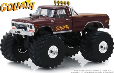 Goliath 1:43 1975 Ford F250 Kings of Crunch Monster Truck Goliath, Monster Truck, 1:24 Scale, Kings of Crunch
