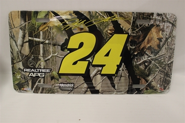 Jeff Gordon #24 No Sponsor Realtree License Plate Jeff Gordon ,Realtree,License Plate,R and R Imports,R&R