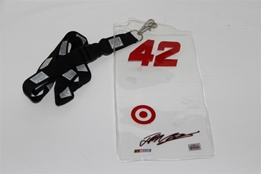 Juan Pablo Montoya #42 Clear Top/ Target Credential Holder and Lanyard Juan Pablo Montoya nascar diecast, diecast collectibles, nascar collectibles, nascar apparel, diecast cars, die-cast, racing collectibles, nascar die cast, lionel nascar, lionel diecast, action diecast, university of racing diecast, nhra diecast, nhra die cast, racing collectibles, historical diecast, nascar hat, nascar jacket, nascar shirt, R and R