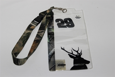 Kevin Harvick #29 Camo RealTree/ Deer Head Credential Holder and Lanyard Kevin Harvick nascar diecast, diecast collectibles, nascar collectibles, nascar apparel, diecast cars, die-cast, racing collectibles, nascar die cast, lionel nascar, lionel diecast, action diecast, university of racing diecast, nhra diecast, nhra die cast, racing collectibles, historical diecast, nascar hat, nascar jacket, nascar shirt, R and R