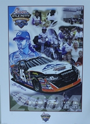 Kyle Petty 2004 10th Anniversary Charity Ride Original Artist Proof Sam Bass Print 28 X 20 Kyle Petty 2004 10th Anniversary Charity Ride Orignal Artist Proof Sam Bass Print 28 X 20