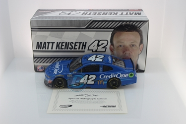 Matt Kenseth Autographed 2020 Credit One Bank 1:24 Nascar Diecast Matt Kenseth, Nascar Diecast,2020 Nascar Diecast,1:24 Scale Diecast,pre order diecast