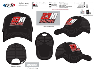 *Preorder* 23XI Adult Sponsor Hat 23XI, NASCAR Cup Series