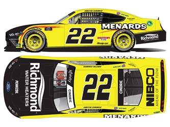 *Preorder* Austin Cindric Autographed 2021 Menards 1:24 Nascar Diecast Austin Cindric, Nascar Diecast,2021 Nascar Diecast,1:24 Scale Diecast,pre order diecast