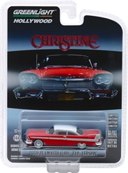 Christine (1983) 1:64 1958 Plymouth Fury (Evil Version w/ Blacked Out Windows) Solid Pack Christine, Movie Diecast, 1:64 Scale