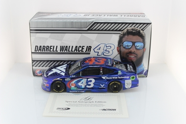 "*Preorder* Darrell ""Bubba"" Wallace Autographed 2020 Wide Technology 30th Anniversary 1:24 Color Chrome Nascar Diecast Darrell ""Bubba"" Wallace Nascar Diecast,2020 Nascar Diecast,1:24 Scale Diecast,pre order diecast"