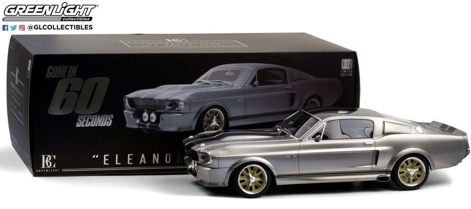"*Preorder* Gone in Sixty Seconds (2000) 1:12 - 1967 Ford Mustang ""Eleanor"" Bespoke Collection Gone in Sixty Seconds, Movie Diecast, 1:12 Scale, 1967 Ford Mustang Eleanor, Bespoke Collection"