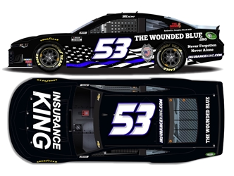 *Preorder* Josh Bilicki Autographed 2020 Insurance King / The Wounded Blue 1:24 Nascar Diecast Josh Bilicki Nascar Diecast,2020 Nascar Diecast,1:24 Scale Diecast, pre order diecast
