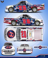 *Preorder* Spencer Boyd Autographed 2020 Plan B Sales Veterans Day 1:24 Color Chrome Nascar Diecast Spencer Boyd diecast, 2020 nascar diecast, pre order diecast, NAME ON CAR, Veteranss Day