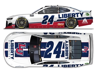 *Preorder* William Byron Autographed 2020 Liberty University Darlington Throwback 1:24 Nascar Diecast William Byron Nascar Diecast,2020 Nascar Diecast,1:24 Scale Diecast,pre order diecast