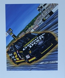 "Rusty Wallace 1995 "" Pocono Draft "" Original Numbered Sam Bass Print 18"" X 23.5"" Rusty Wallace 1995 "" Pocono Draft "" Original Numbered Sam Bass Print 18"" X 23.5"""